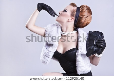 Famous, rich lady - stock photo