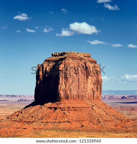 famous rock at Monument Valley, USA - stock photo