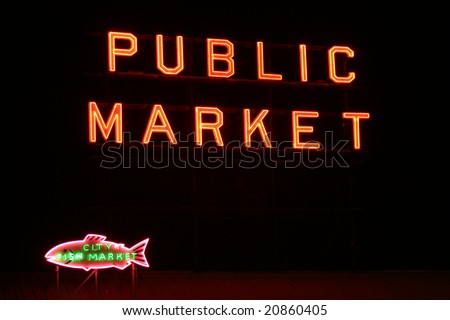 Famous Seattle tourist destination - stock photo