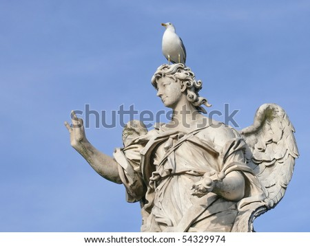 Famous statue of an angel. Michaelangelo bridge. Rome. Italy. More of this motif & more Rome in my port.