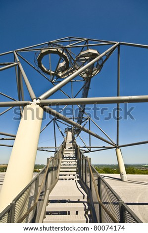 famous tetraeder on a coal mining tip in Bottrop