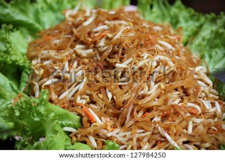 famous Thai's dish Phad thai. Fried noodle - stock photo