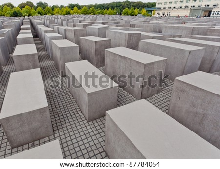 Famous touching landmark memorial in Berlin about the Holocaust