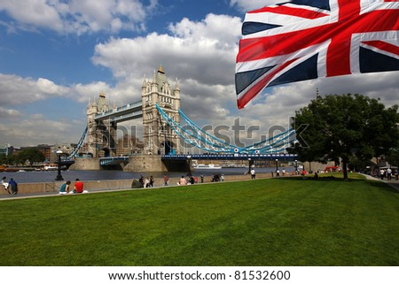 Famous Tower Bridge in London, UK - stock photo