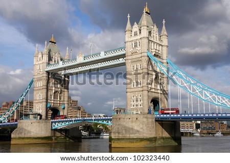 Famous Tower Bridge, London. - stock photo