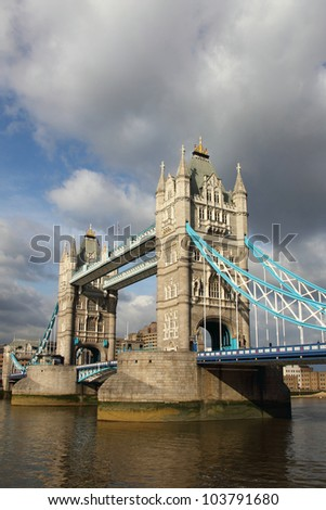 Famous Tower Bridge, London. - stock photo