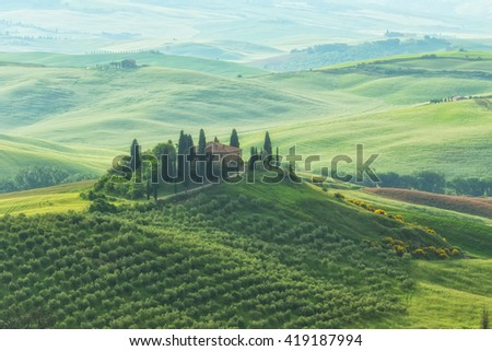 Famous Tuscany Belvedere farm house in Italy