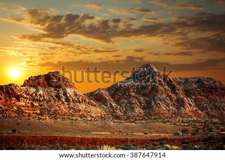 famous  view of Grand Canyon , Arizona, USA - stock photo