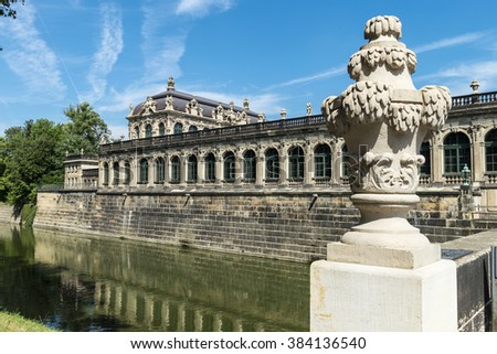 Famous Zwinger Palace in Dresden, Germany