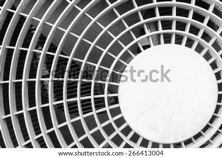 fan aircondition close-up - stock photo