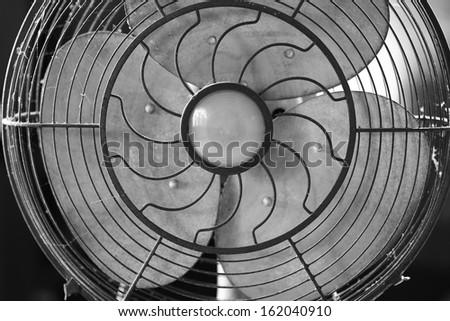 Fan black or write - stock photo