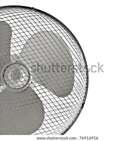 fan closeup isolated on a white background