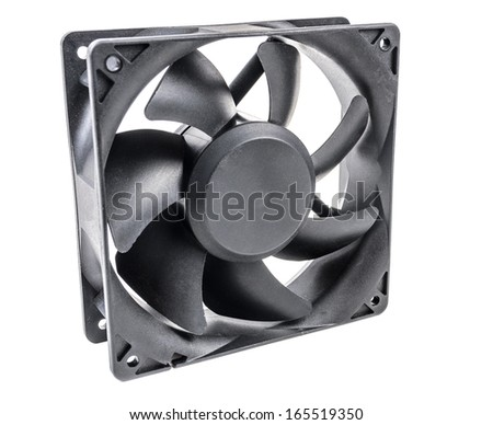 Fan for cooling elements of electronic equipment - stock photo
