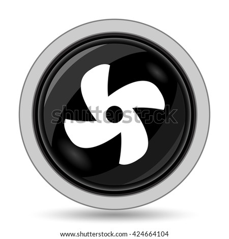 Fan icon. Internet button on white background.