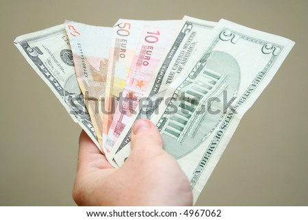 Fan of money maded form dollars and euros