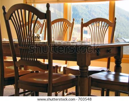 fancy dinner table - stock photo