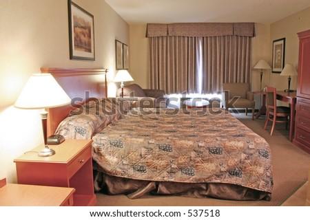 Fancy hotel room - stock photo