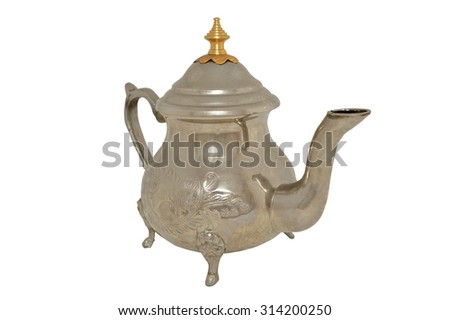 Fancy moroccan teapot isolated on a white background