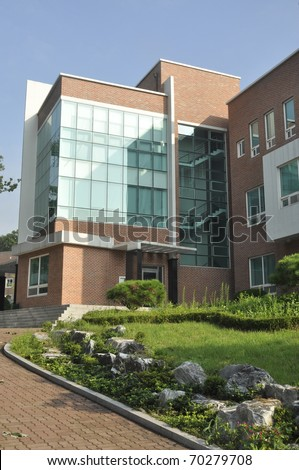 fancy office building - stock photo