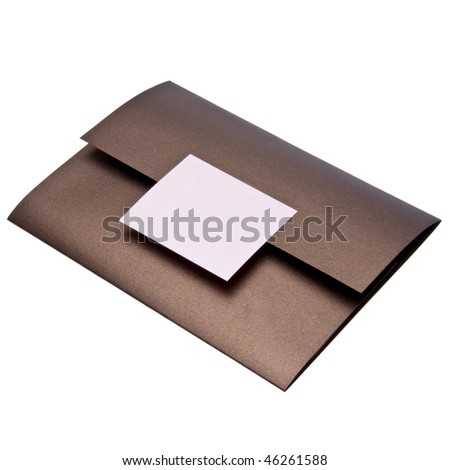 Fancy paper invitation, possibly for a wedding.  File includes a clipping path. - stock photo