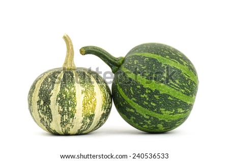 Fancy pumpkin on white background