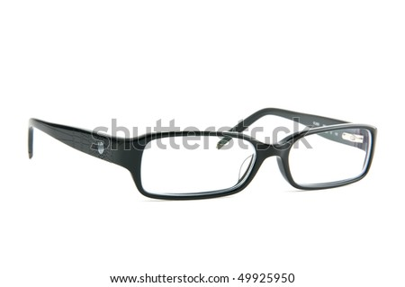 fancy women eyeglasses white isolated