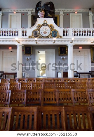 Faneuil Hall interior - stock photo