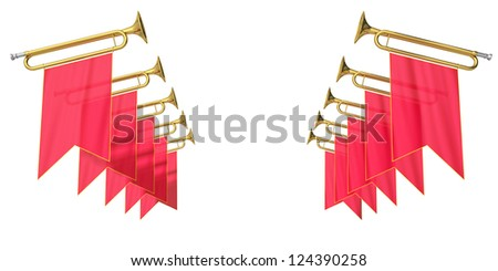 fanfare on a white background - stock photo