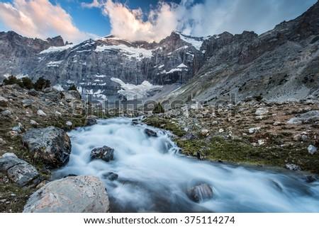 Fann mountains - Kulikanon Lake, Tajikistan, Central Asia - stock photo