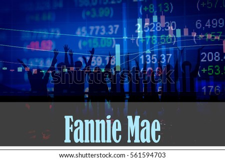 Fannie Mae Hand Writing Word Represent Stock Photo Royalty Free