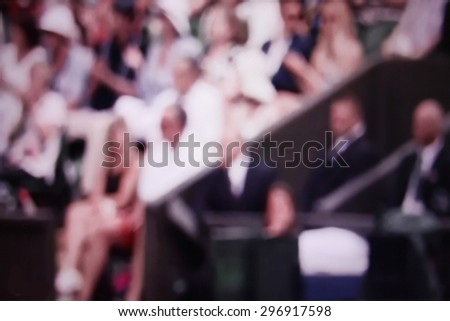 Fans. Abstract background. blurry. - stock photo