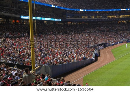 Fans in Turner Field doing the chop