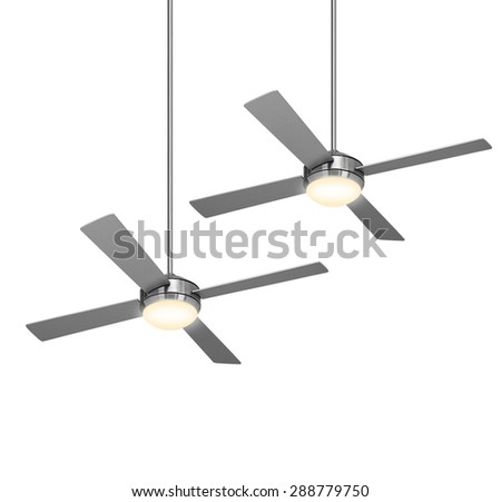 fans isolated on the white background - stock photo