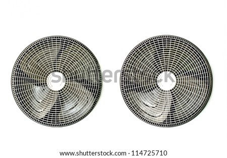 fans of condenser unit for air conditioner - stock photo