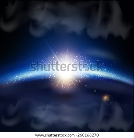 fantastic background with space - stock photo