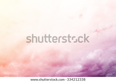 fantastic blurred cloud and sky on gradient color , nature abstract background   - stock photo
