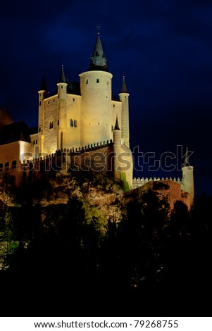 Fantastic castle and residence  of kings of  the medieval epoch