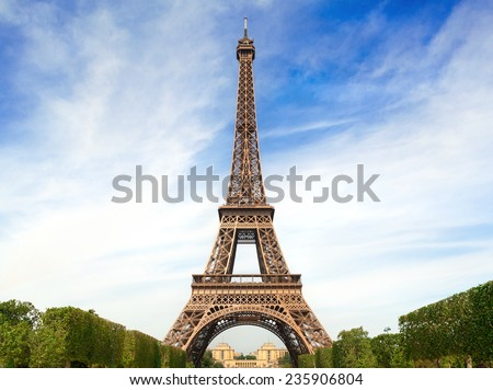 Fantastic Eiffel Tower in Paris - stock photo