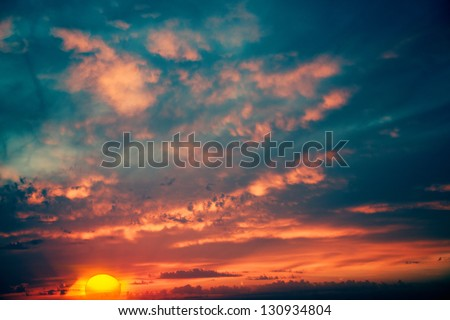 Fantastic evening, abstract natural backgrounds