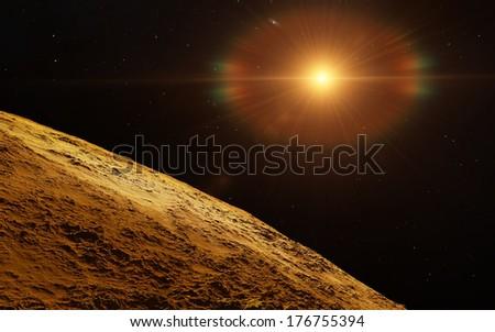 Fantastic exoplanet  - stock photo