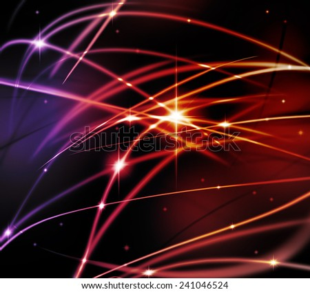 Fantastic light line with flashing of it power. - stock photo