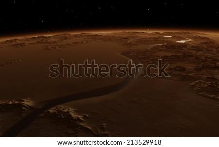 Fantastic Mars - stock photo
