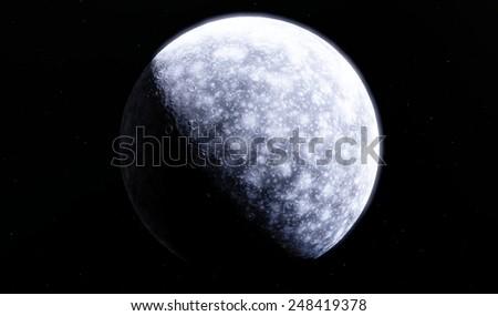 Fantastic moon - stock photo