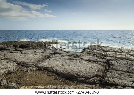 Fantastic ocean shore. Playa Paraiso, Tenerife, Spain