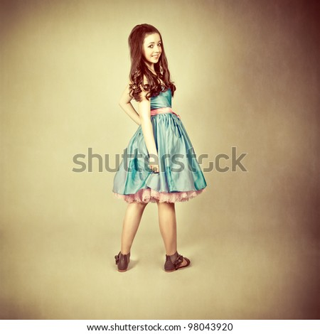 fantastic portrait of a young girl - stock photo