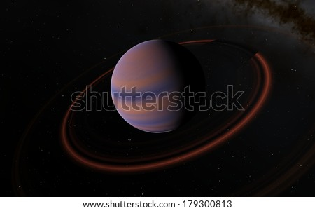 Fantastic Saturn planet