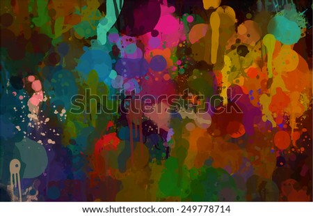 Fantastic sky brush strokes background. Raster version - stock photo