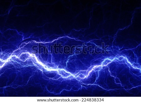Fantasy abstract electrical lightning - stock photo