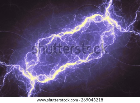 Fantasy abstract lightning, purple electrical background
