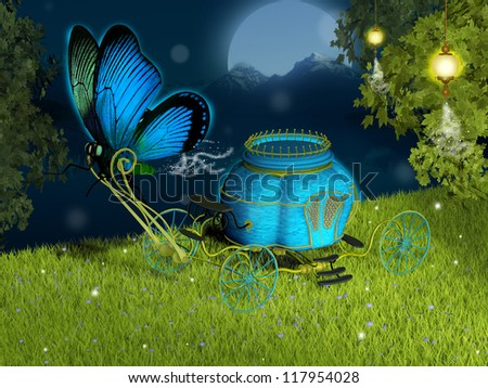 Fantasy carriage - stock photo